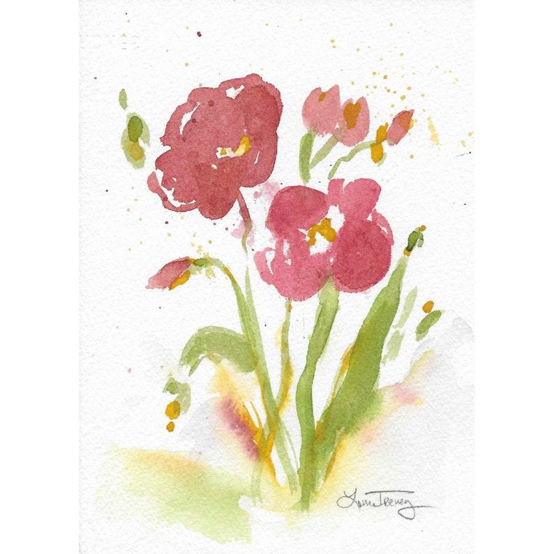 Original Watercolor Painting  Cheery Mood image 0