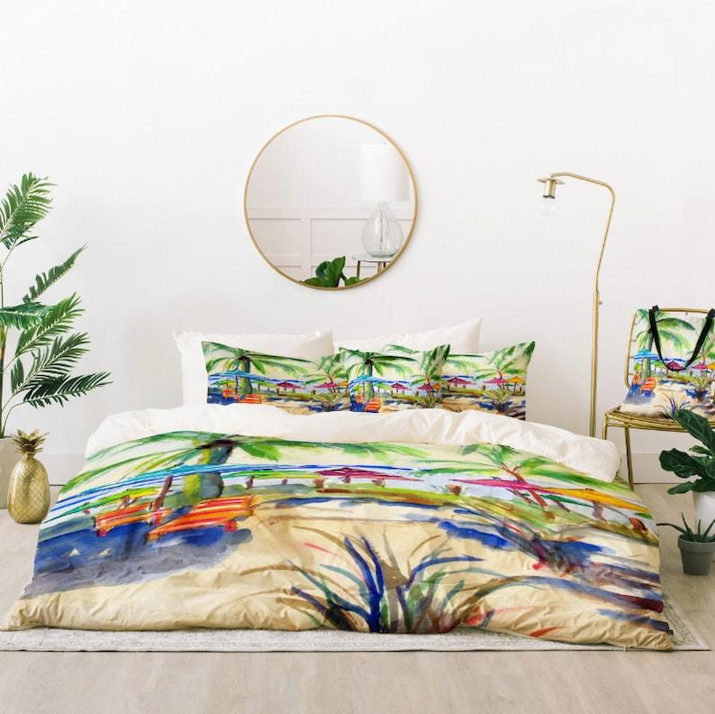 . Beachy Bedding Set   Caribbean Time   Coastal Living Inspired