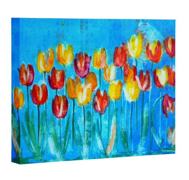 Tulips in Blue on Canvas image 0