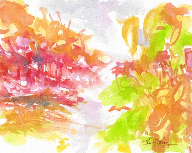 Original Watercolor Painting Changing Seasons 2 image 0