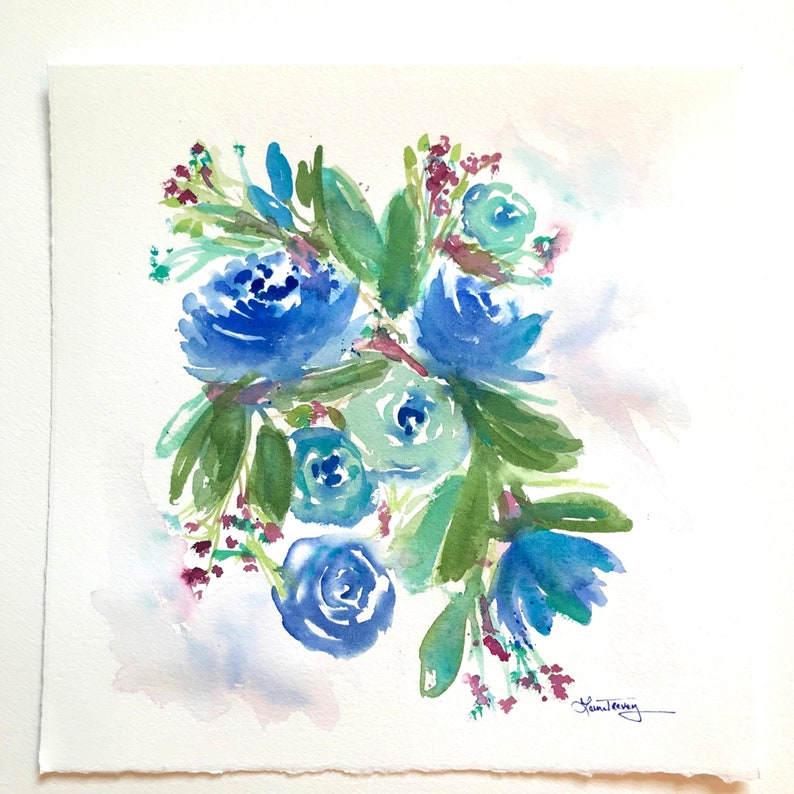 Original Watercolor Painting Happy Occasion image 0
