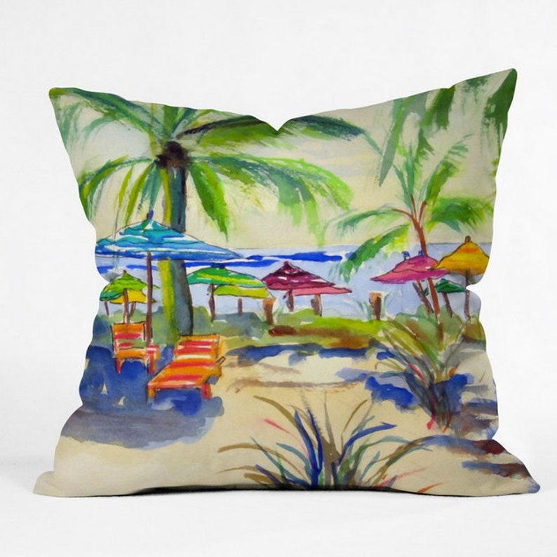 Caribbean Time Outdoor Throw Pillow image 0