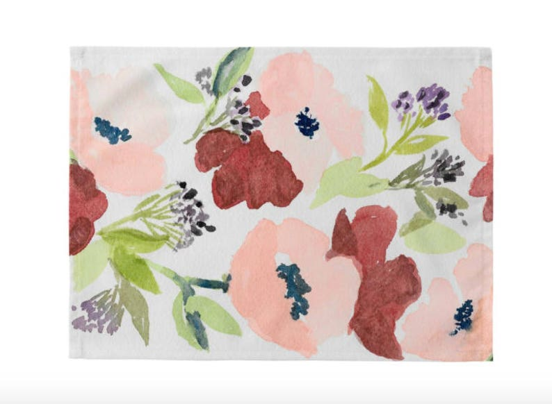 Pink Poppies Placemats Set of 4 image 0