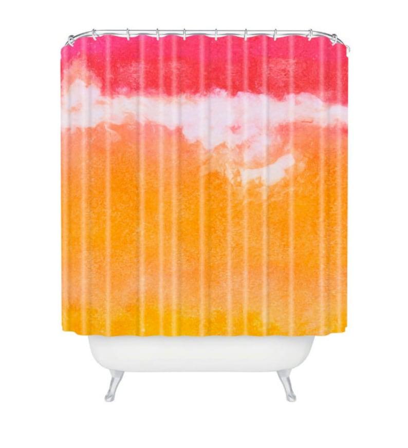 Tangerine Tie Dye Shower Curtain image 0
