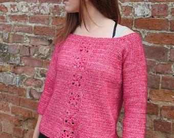 Crochet Pattern, Crochet Sweater, Womens Crochet Pattern, Womens Sweater, Sweater pattern PDF, Easy Crochet, Crochet motifs, XXL sizes