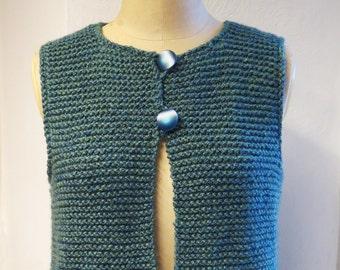 Gilet Knitting Pattern, Waistcoat knitting pattern, Knitted waistcoat, Womens knit, Mens knit ,Chunky Knitting, Easy Knitting pattern