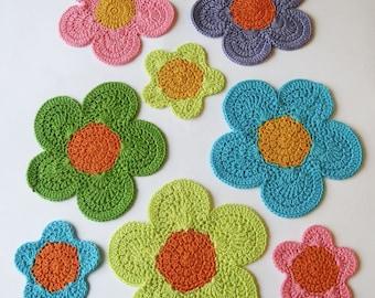 Flower Power Crochet Table Mats Instant download Crochet Pattern PDF