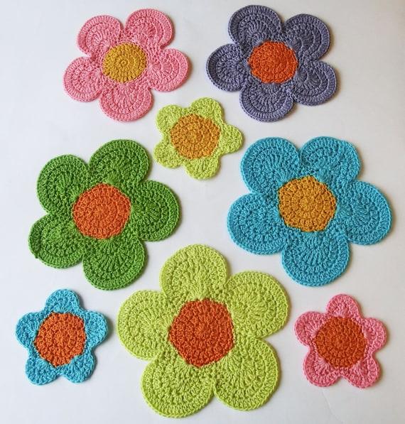 Flower Power Crochet Table Mats Instant Download Crochet Etsy