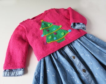 Baby and Toddlers Christmas Sweaters featuring Christmas Tree or Snowman ages 0 - 3 years -  Pattern PDF  - Instant Download