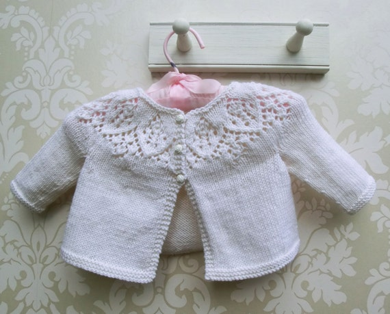 Kit für Baby Strickjacke stricken Strickjacke Meredith Baby | Etsy