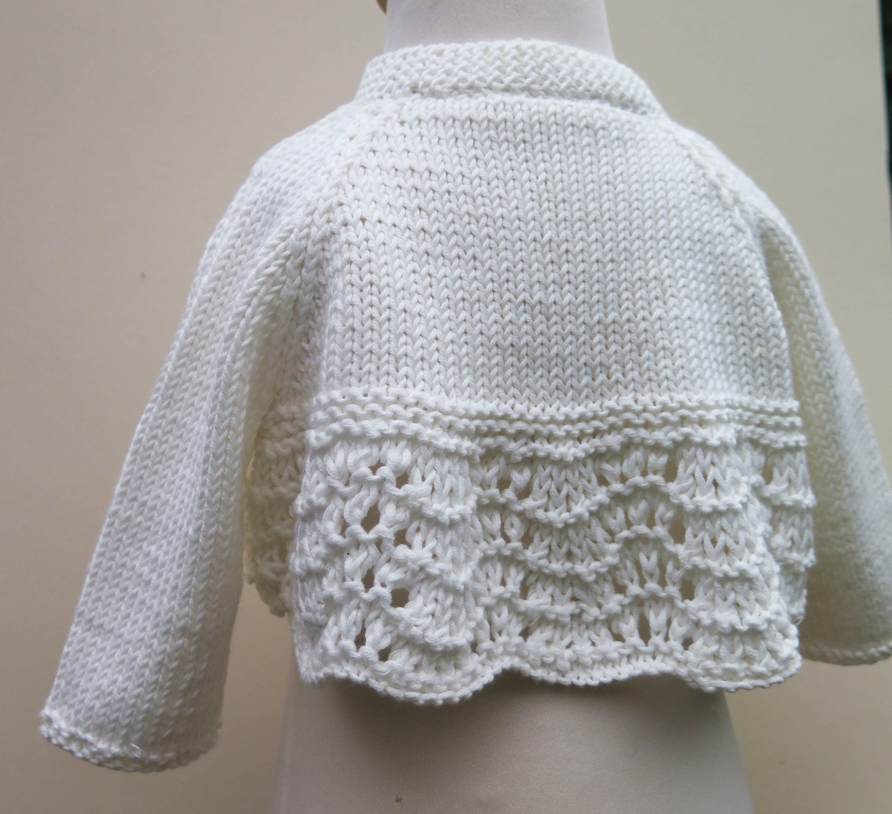8be43be54 Child and Toddler Lace Bolero Knitting Pattern PDF with Tie or