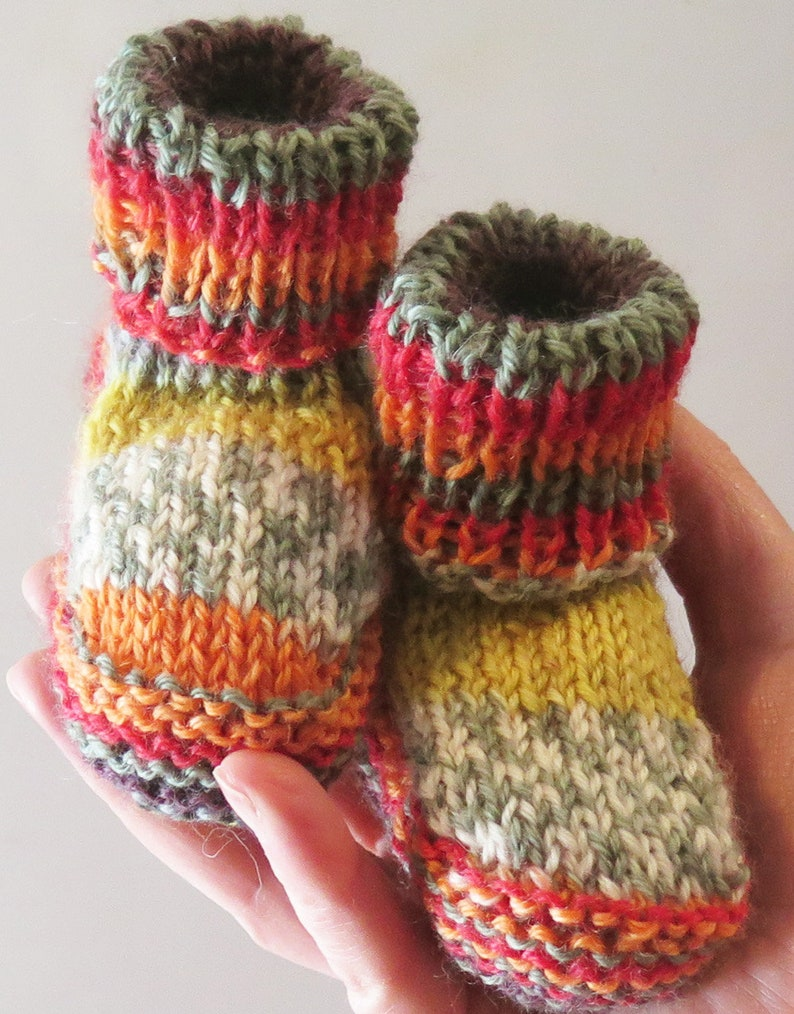 Baby Booties Knitting Pattern Pdf Newborn Baby Boys Etsy
