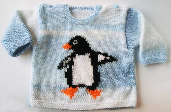 Baby stricken Baby Pinguin Pullover Muster PDF | Etsy