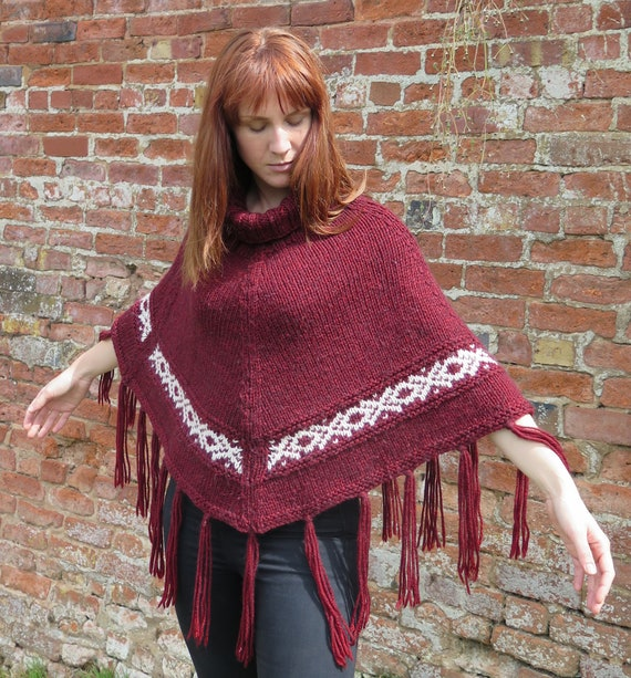 Womens Poncho Knitting Pattern Instant Download Pattern Pdf Etsy