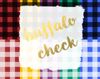 Buffalo Check Digital Paper Pack (Instant Download) buffalo, buffalo check, buffalo plaid, plaid