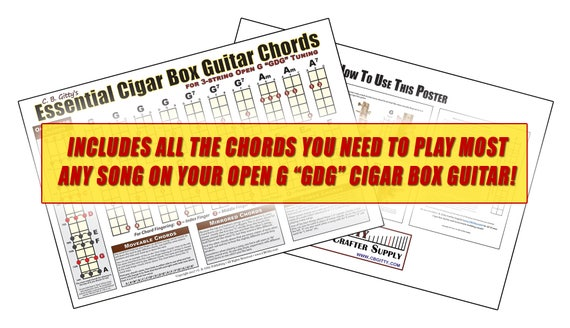 Open G GDG Essential Cigar Box Guitar Chords | Etsy