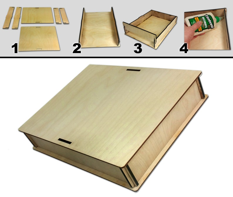 f0c2a78ffff 9 X 12 Acoustic Wooden Box Kit Easy to Assemble