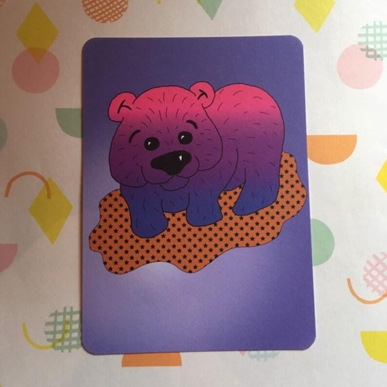 Wom-bi  bisexual wombat  animal pride postcard print with image 0