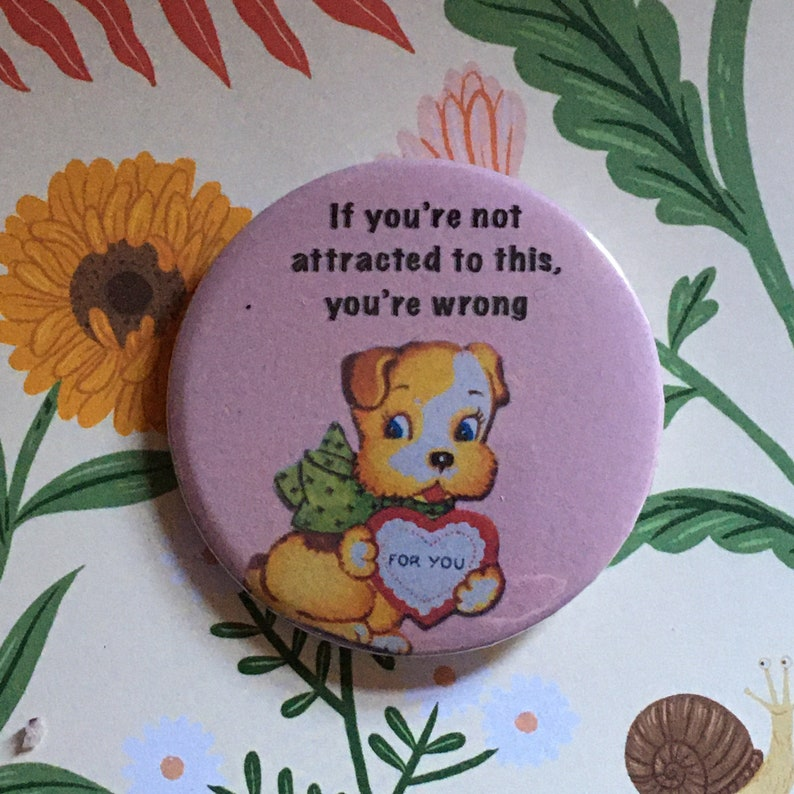 Vintage mash-up pin badge  Brian David Gilbert  if image 0