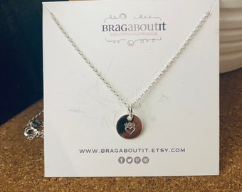SALE . Ready To Ship Sterling Silver Hand Stamped Pendant/Charm Necklace