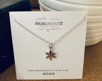 SALE . Ready To Ship Sterling Silver Pendant/Charm Necklace