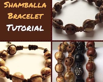 Shamballa Bracelet PDF Tutorial Shambala Style Knotting Technique PDF Tutorial Jewelry Making Tutorial Macrame Bracelet Tutorial