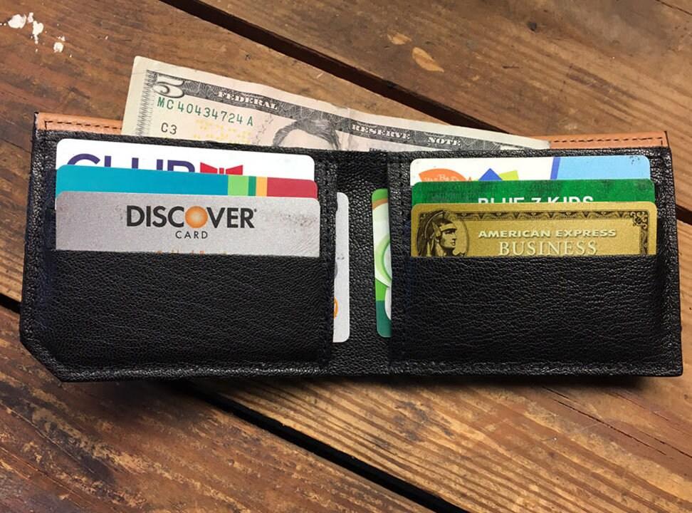 Mens leather wallet, Mens wallet, octopus attacks wallet, leather wallet, slim wallet, back to school, leather wallet mens, bifold wallet