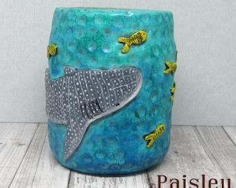 Whale Shark Planter Utensil Tool Holder by Paisley Lizard
