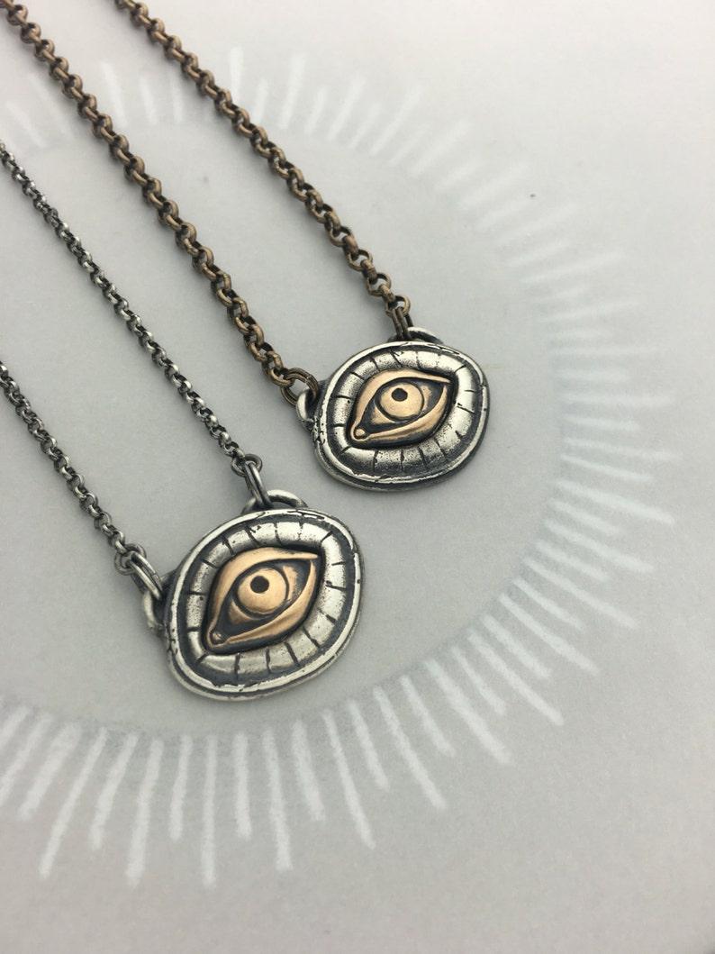 Illuminati All Seeing Eye Talisman Protective Amulet Necklace image 0