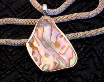 Purple Paua Shell Pendant