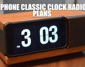 iPhone Classic Flip Number Clock Radio Plans