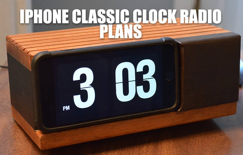 iPhone Classic Flip Number Clock Radio Plans image 0