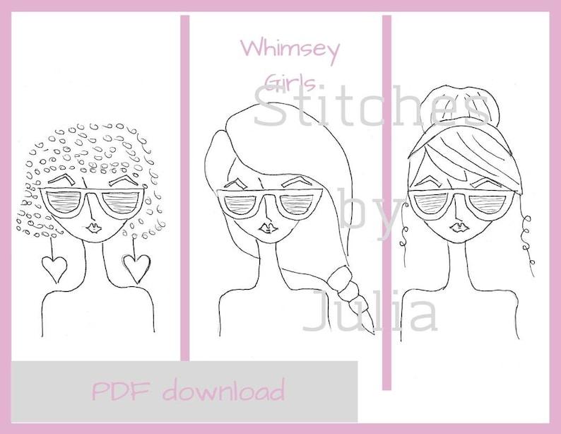Digital PDF Printable, Whimsey Girls Pattern for YouTube Tutorial