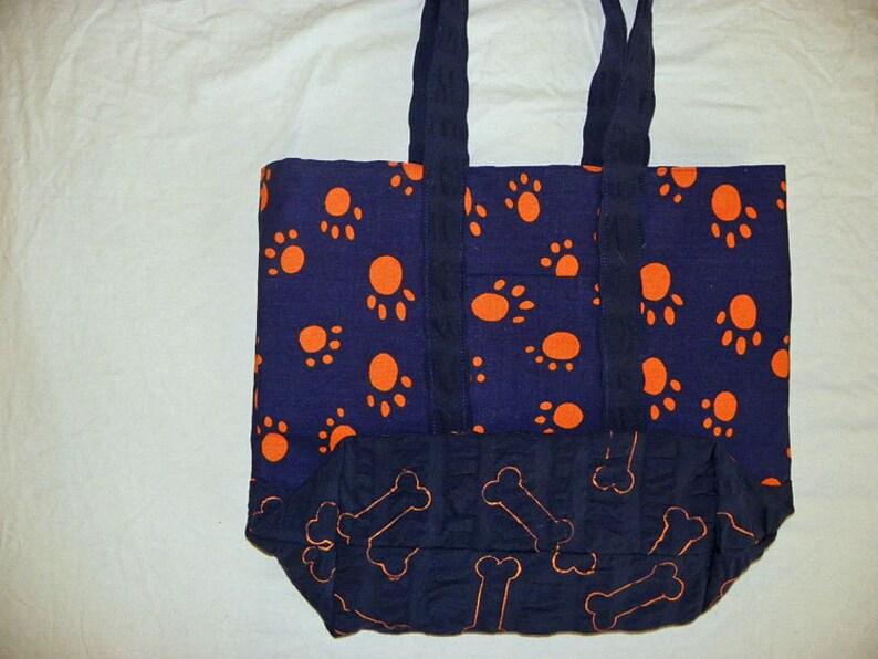 Small Tote Bag Paw Prints