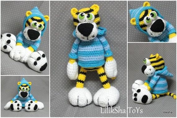 Amigurumi Pattern - Tiger Kerusha - Crochet Toy by Liliksha Toys ... | 380x570