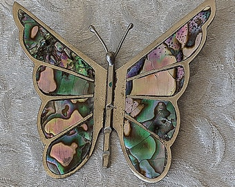 123726799967 Vintage Mexico Moth Butterfly Design Pinbrooch 935 Sterling Bb 948