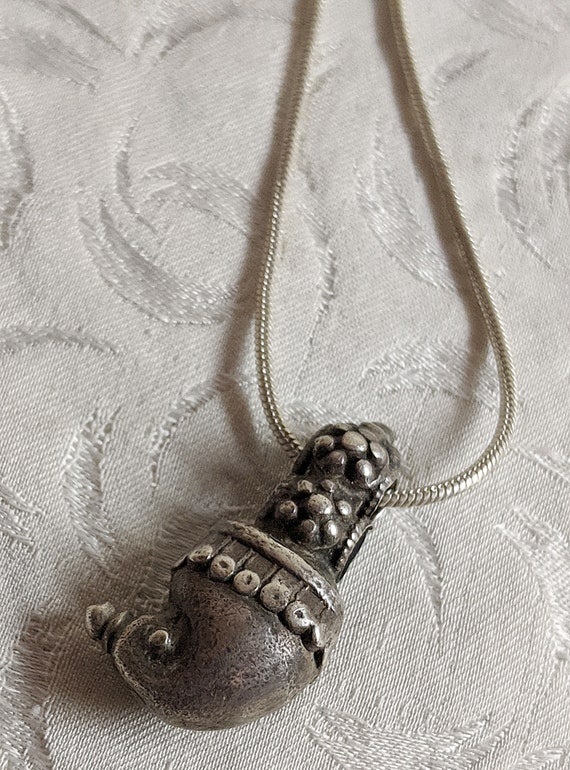 Antique Indian Charm...   on Sterling Snake Chain
