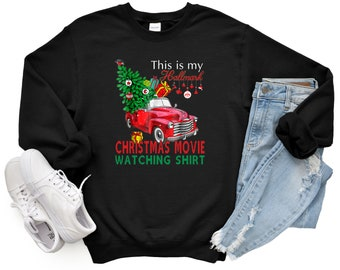 This Is My Hallmark Christmas Movie Watching Unisex Sweatshirt, Christmas Family, Hallmark.