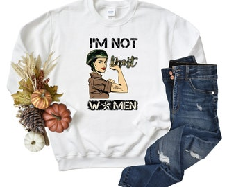 Funny Female Veteran Unisex Sweatshirt,