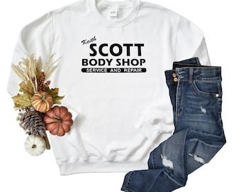 Keith Scott Body Shop Unisex Sweatshirt, OTH Fan Hoodie Gift, classic car auto body repair.