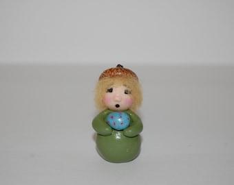 Polymer Clay Acorn Elf or Gnome - Miniature Fairy Garden Decoration