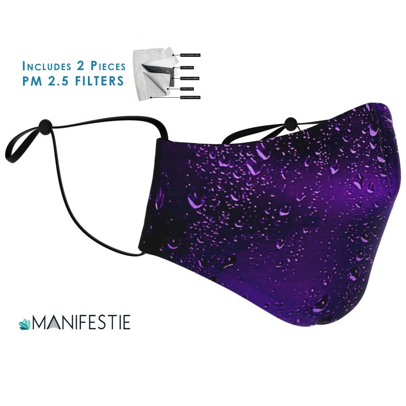 Purple Rain FACE MASK With 2pcs PM 2.5 Carbon Filters image 0