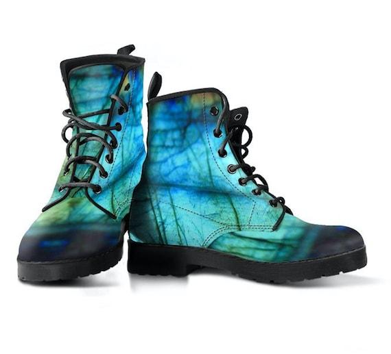 Mandala Boots Vegan Leather Boots Chakra Art Sacred Geometry Art