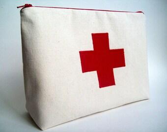 "First aid kit/medicine bag 10"" x 7"" x 3"""