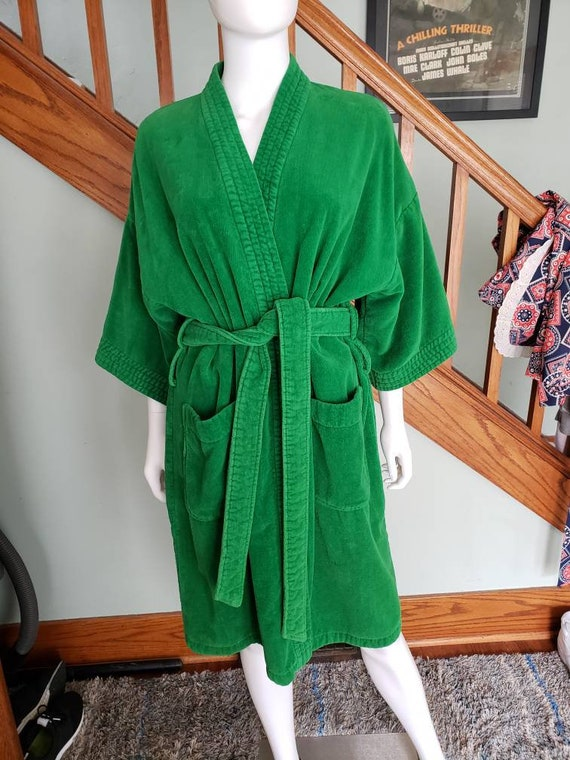 Green Terrycloth Robe