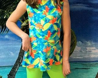 Girls modest swim set