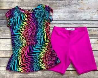 Girls Modest Swimsuit set. Ready to ship. Size 6