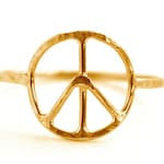 Peace Symbol Ring, Peace Sign Jewelry, Symbol Ring SYMBOL RDPEACE