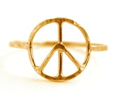 Peace Symbol Ring, Peace Sign Jewelry, Symbol Ring SYMBOL RDPEACE