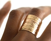 Hammered Gold Ring, Skinny Stacking Ring, ONE SINGLE RING HSR18